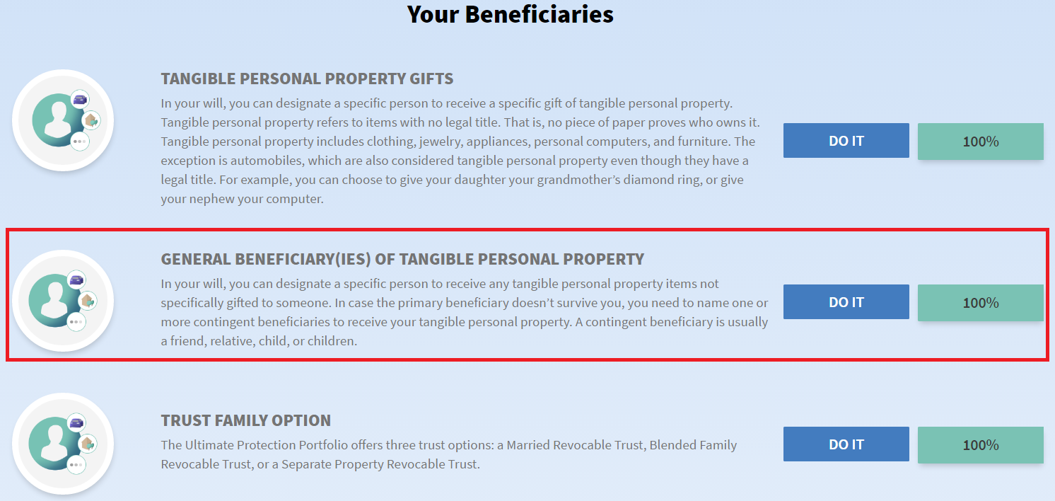 Edit General Beneficiaries for Tangible Personal Property ...